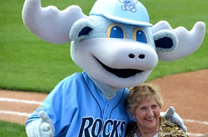 Anne Canosa at Blue Rocks game